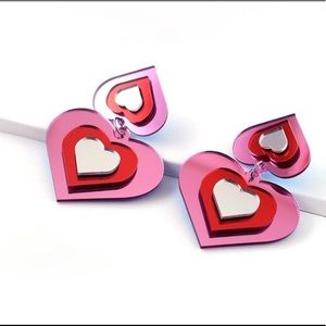 Heart Acrylic Earrings
